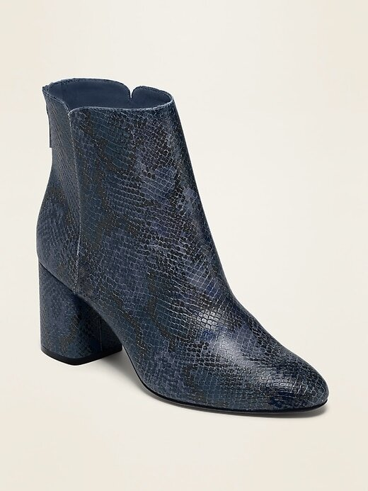Snakeskin Bootie-$42 (other colors)