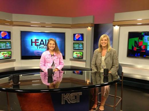 Morgan on a statewide television network speaking about anti-bullying.