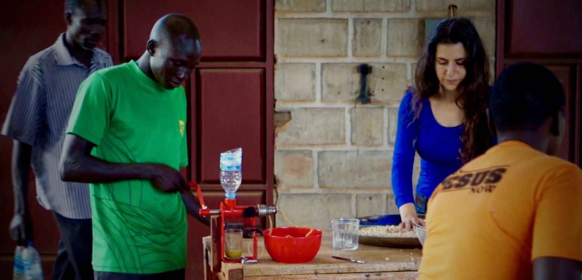 First Desert Date Oil Pressing - Yei, South Sudan 2014