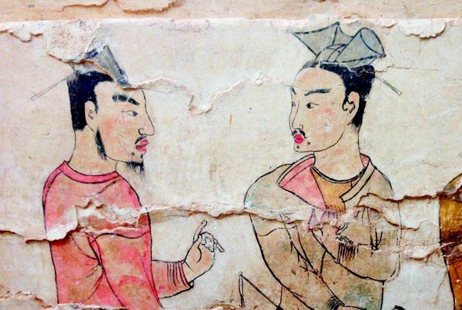 Mural painting from a tomb of the Northern Qi (550–577), in Jiuyanggang, Xinzhou. Image: Wikipedia