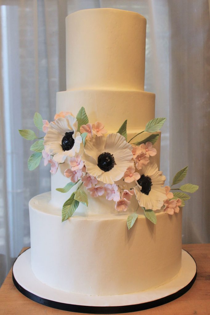 Anemone Cluster Wedding Cake