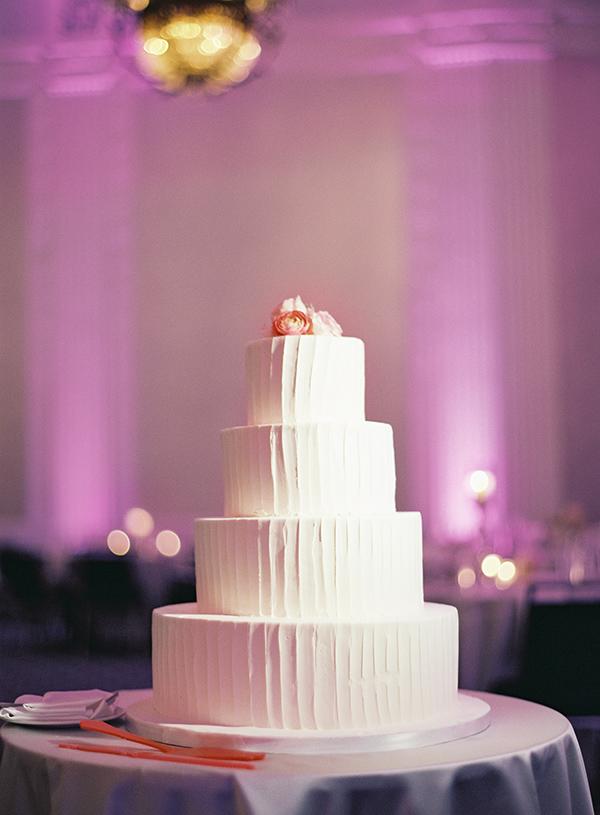 Vertical Elegant Simple Wedding Cake