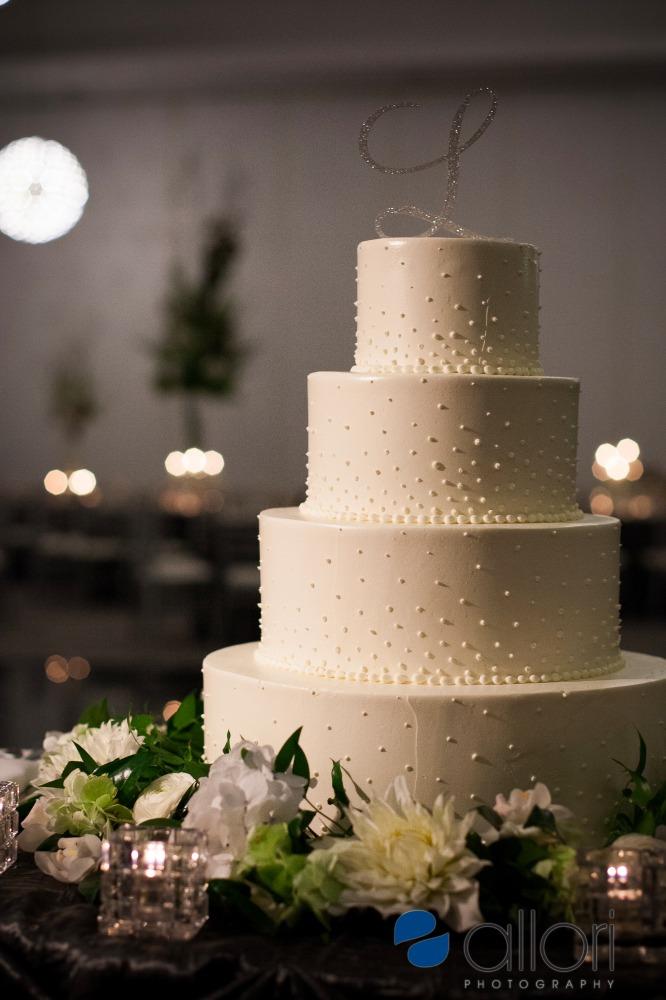 Champagne Dot Wedding Cake