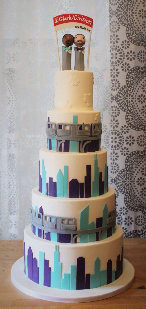 Chicago L Train Wedding Cake