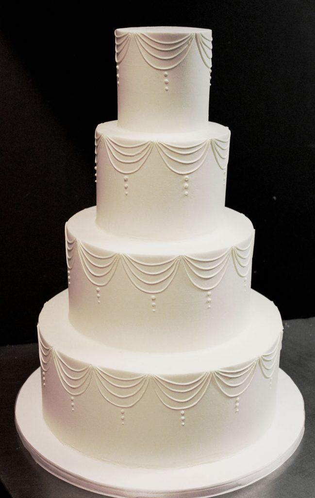 Classic Draping Wedding Cake