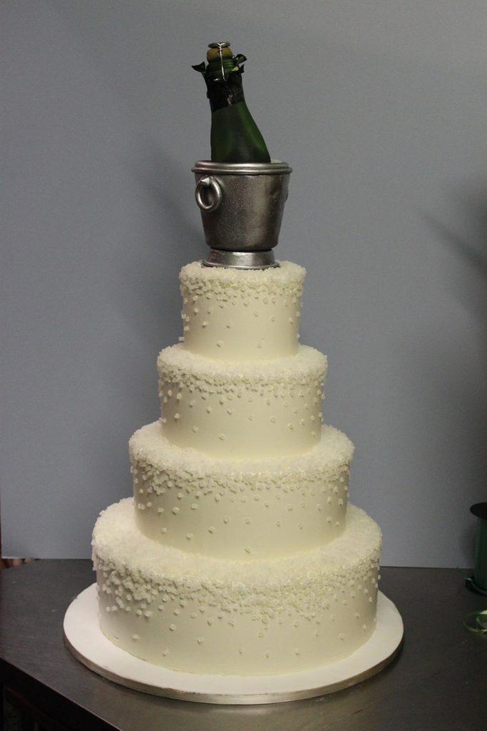 Champagne on Ice Wedding Cake