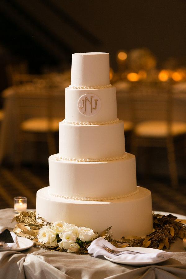 Classic Monogram Wedding Cake