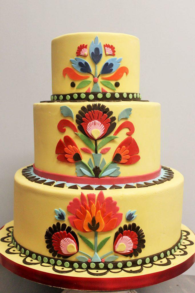 Folk Art Wedding Cake