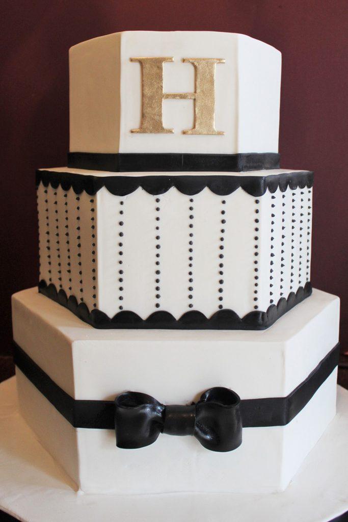 Hexagon Bowtie Wedding Cake