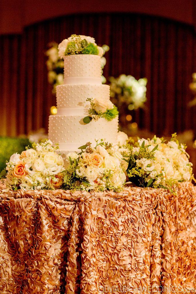 Milk Glass Dot Wedding Cake