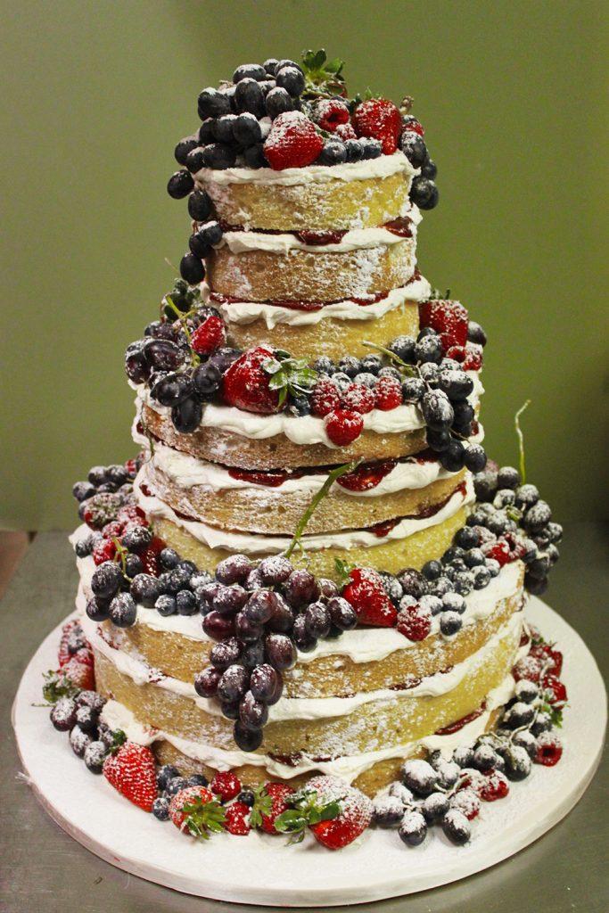 Naked Cake with Fruit Wedding Cake