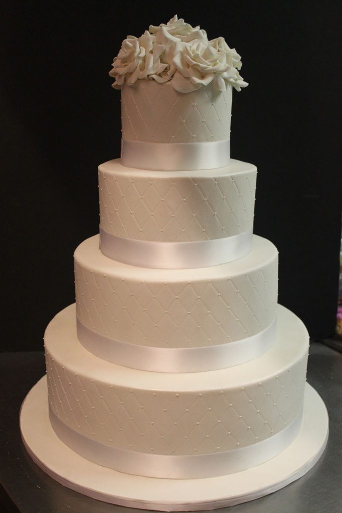 Quilted Classic Wedding Cake