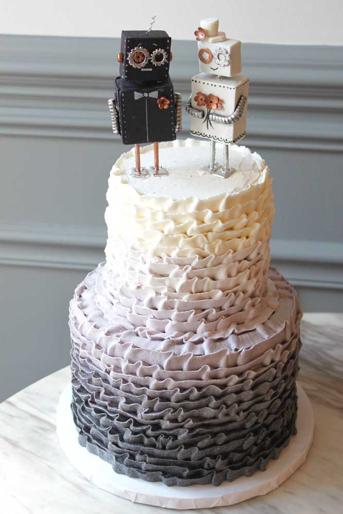 Robot Love Wedding Cake