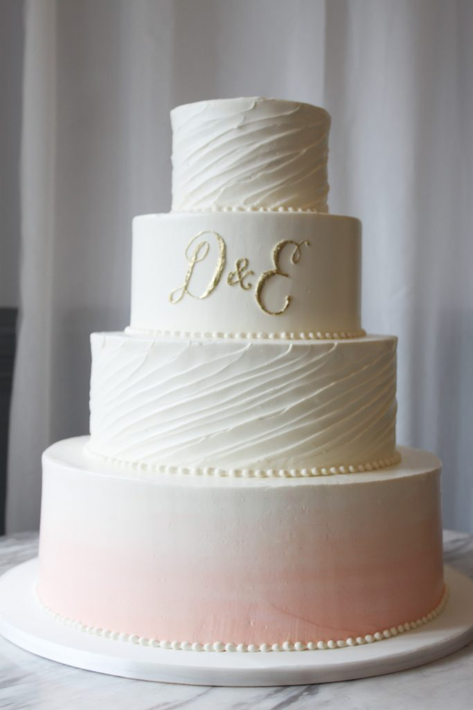Traditional Textured Wedding Cake