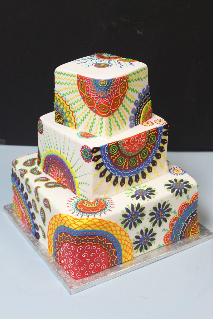 Wax Fabric Wedding Cake