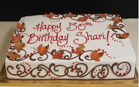 Fall Birthday Sheet Cake