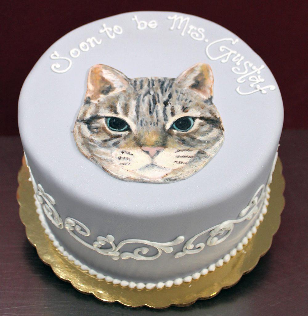 Periwinkle Cat Cake