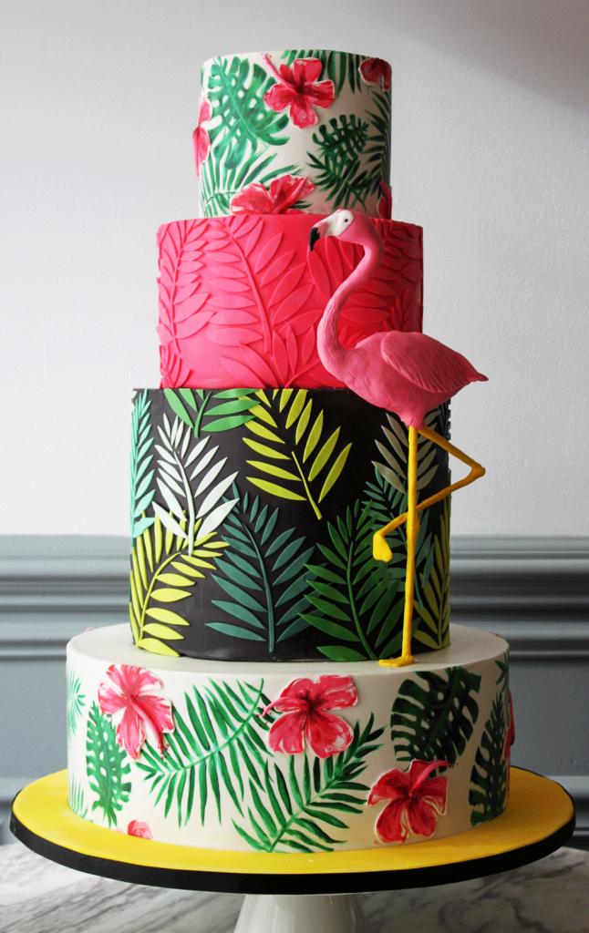 Fun Flamingo Cake