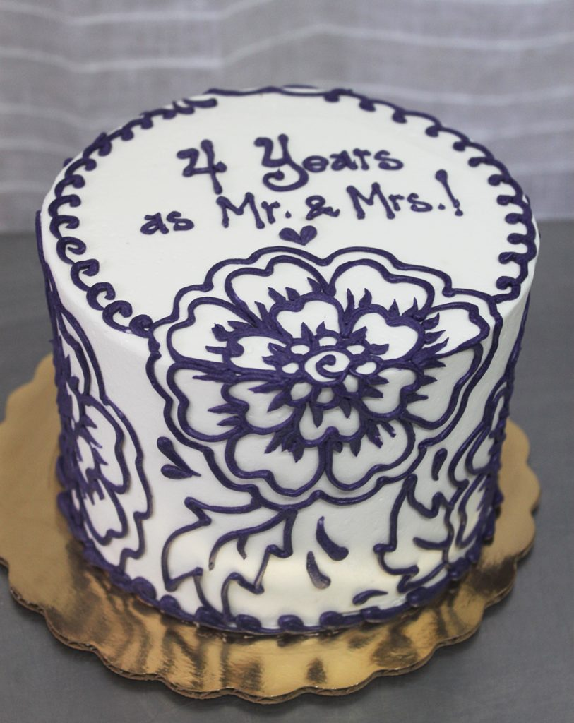 Floral Scroll Cake