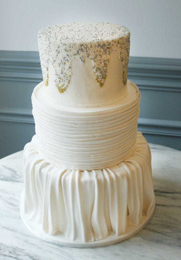 White Textured Cake