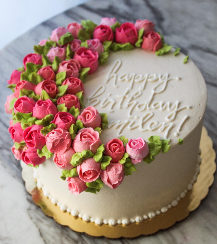 Spring Rose Spray Cake