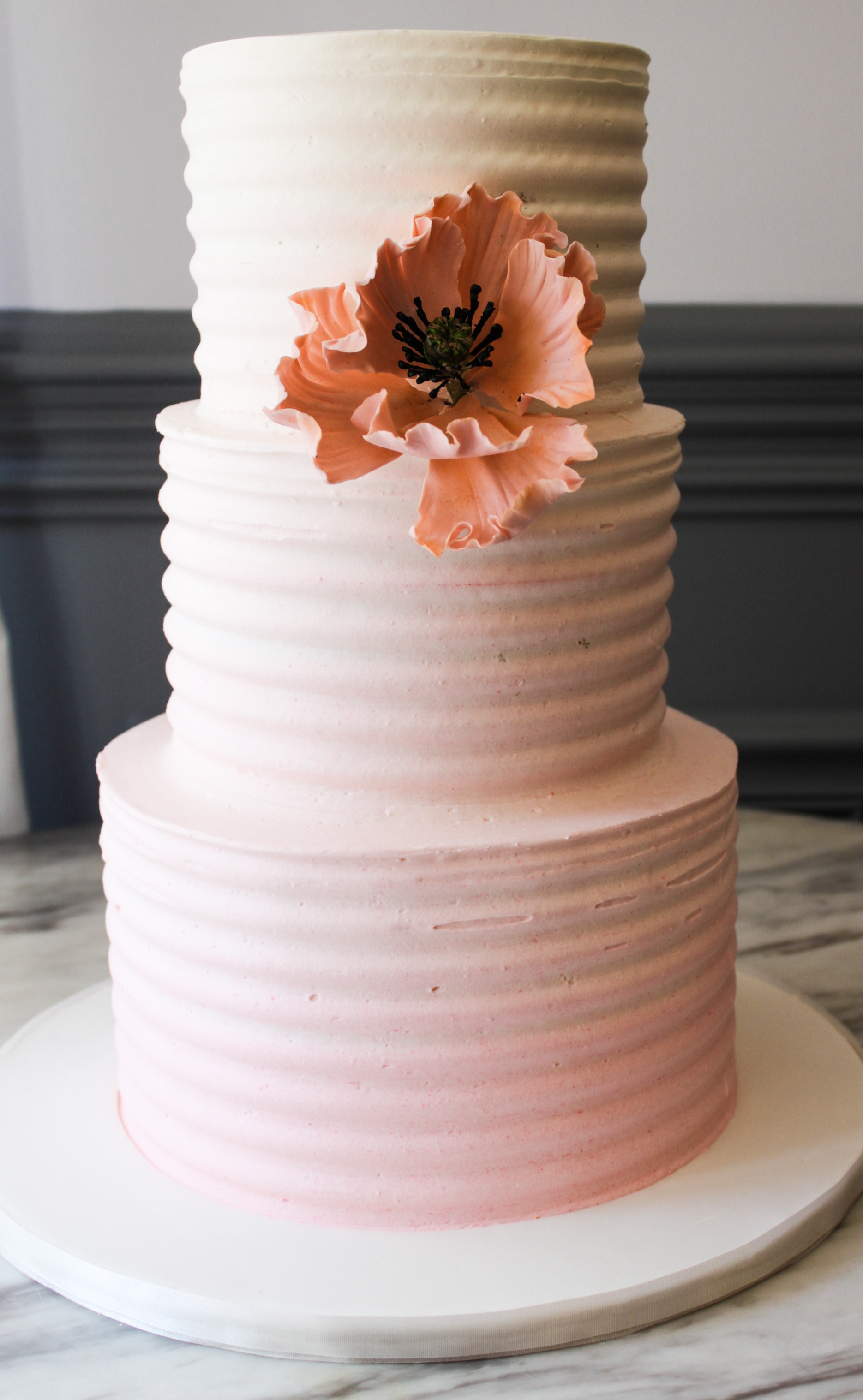 Ombre Pink Textured Cake
