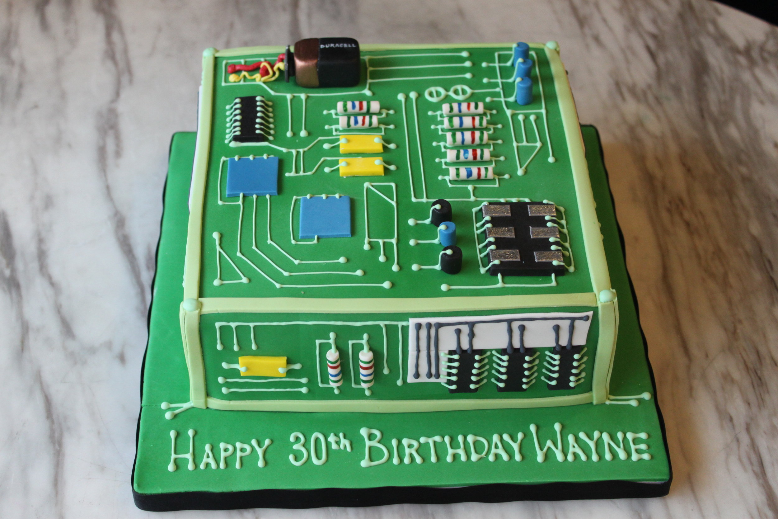 Computer Chip Cake