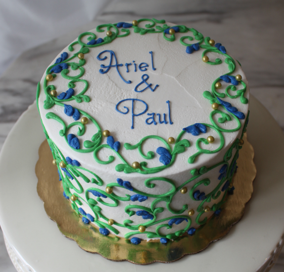 Blue and Green Scrollwork