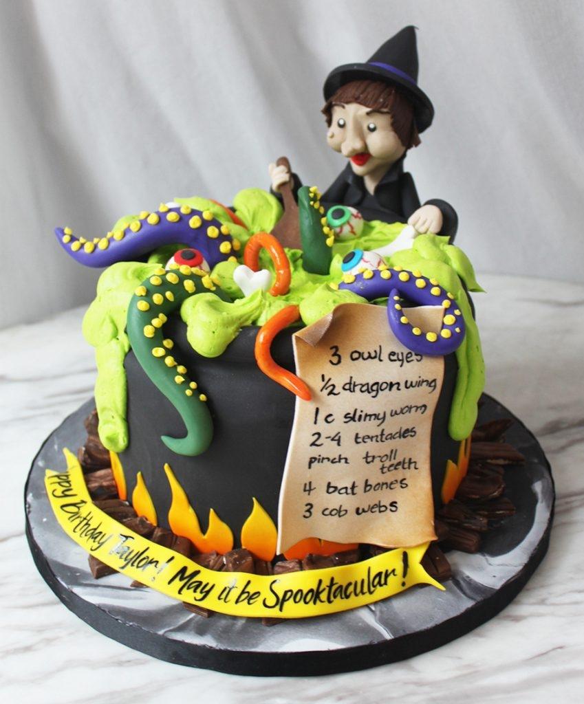 Witch Cauldron Cake