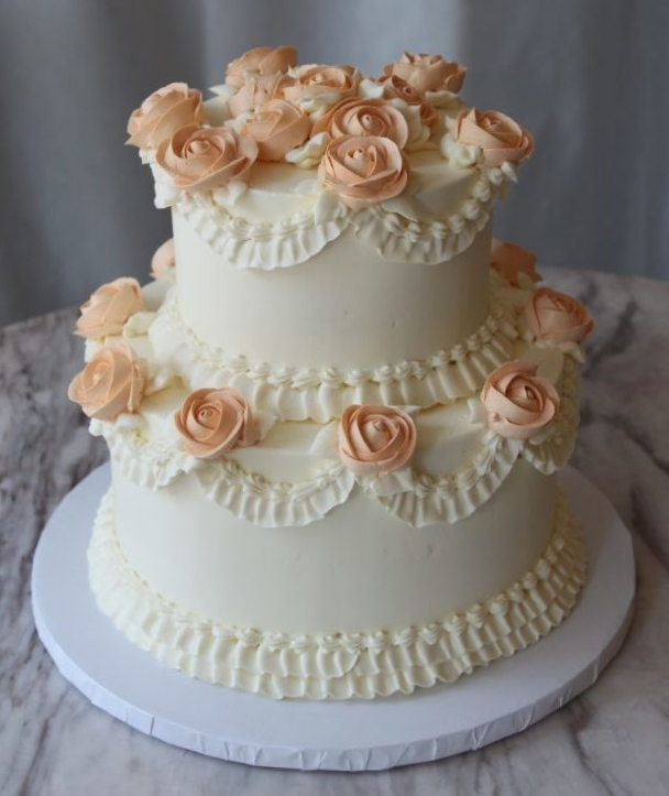 Blush Rose Cake