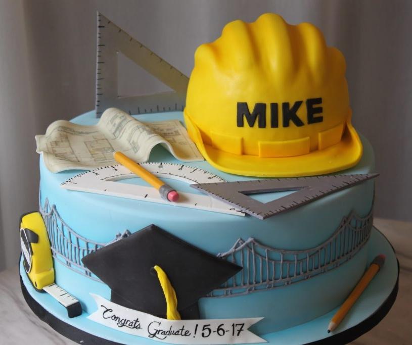 Architecture Graduation Cake
