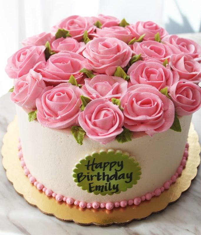 Light Pink Rose Cake
