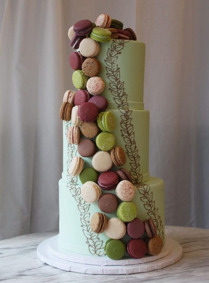 Cascading Macaron Cake