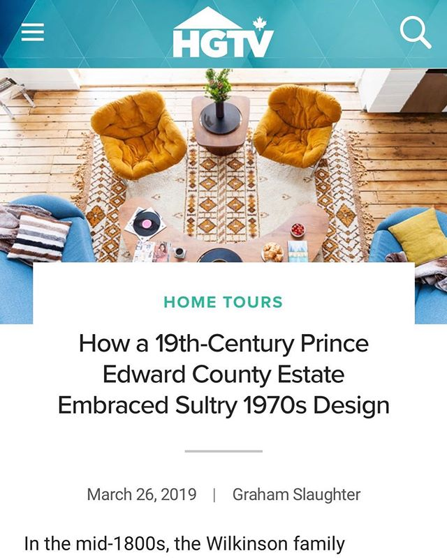 Woohoo! Thanks @hgtvcanada for featuring The Wilk in your Home Tours section this week!! We LOVE the beautiful photos @laurenkolyn and detailed story @instagrahamslaughter 🕺🏽🕺🏽Sultry 70's indeed!! Link in bio ☝️