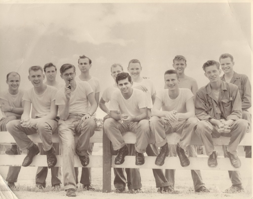 Duane Desler - shirtless, top right (Naomi's papa), US Air Force, Daegu, South Korea