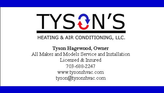 Tyson's Heating and Air Conditioning Tyson Hagewood