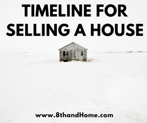 TIMELINE FOR SELLING A HOUSE