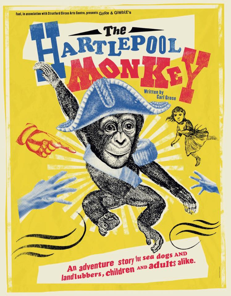 Hartlepool monkey, Gyre and Gimble, Puppet maker London