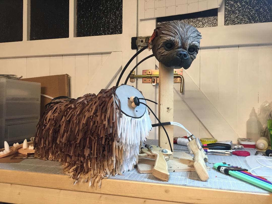 mechanical dog puppet