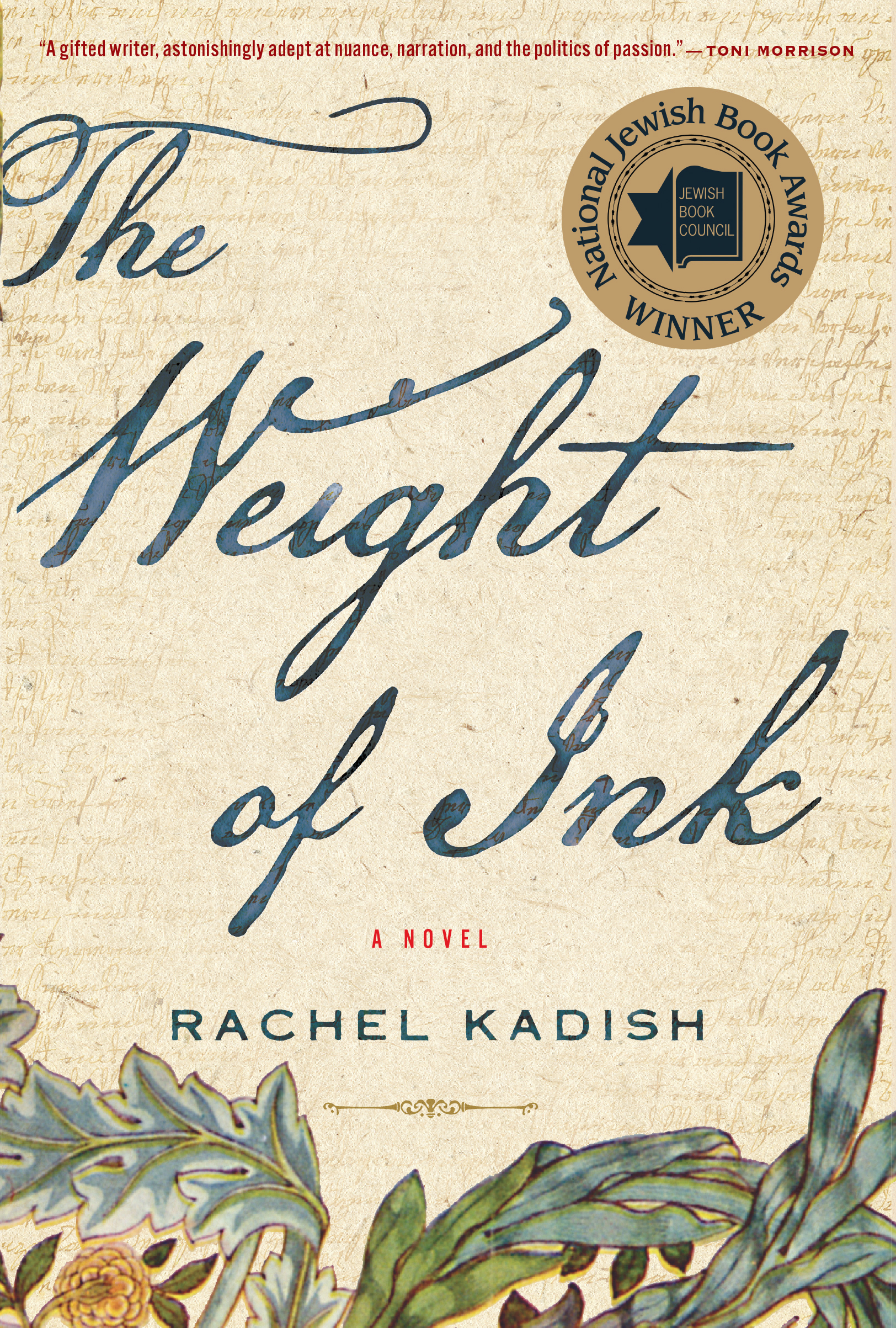 Set in London of the 1660s and of the early twenty-first century,  The Weight of Ink  is the interwoven tale of two women of remarkable intellect: Ester Velasquez, an emigrant from Amsterdam who is permitted to scribe for a blind rabbi, just before the plague hits the city; and Helen Watt, an ailing historian with a love of Jewish history.
