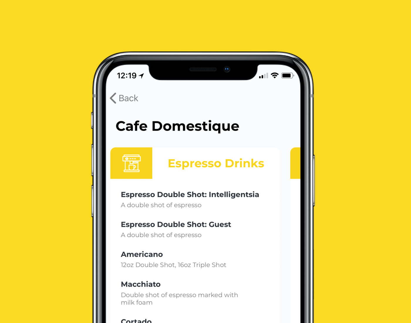 Fast, easy... - See their menu, then customize your drink. Add flavors, swap out the type of milk, pour it over ice... your favorite shop can give you as many options as they want, so you can get your drink just the way you like it.