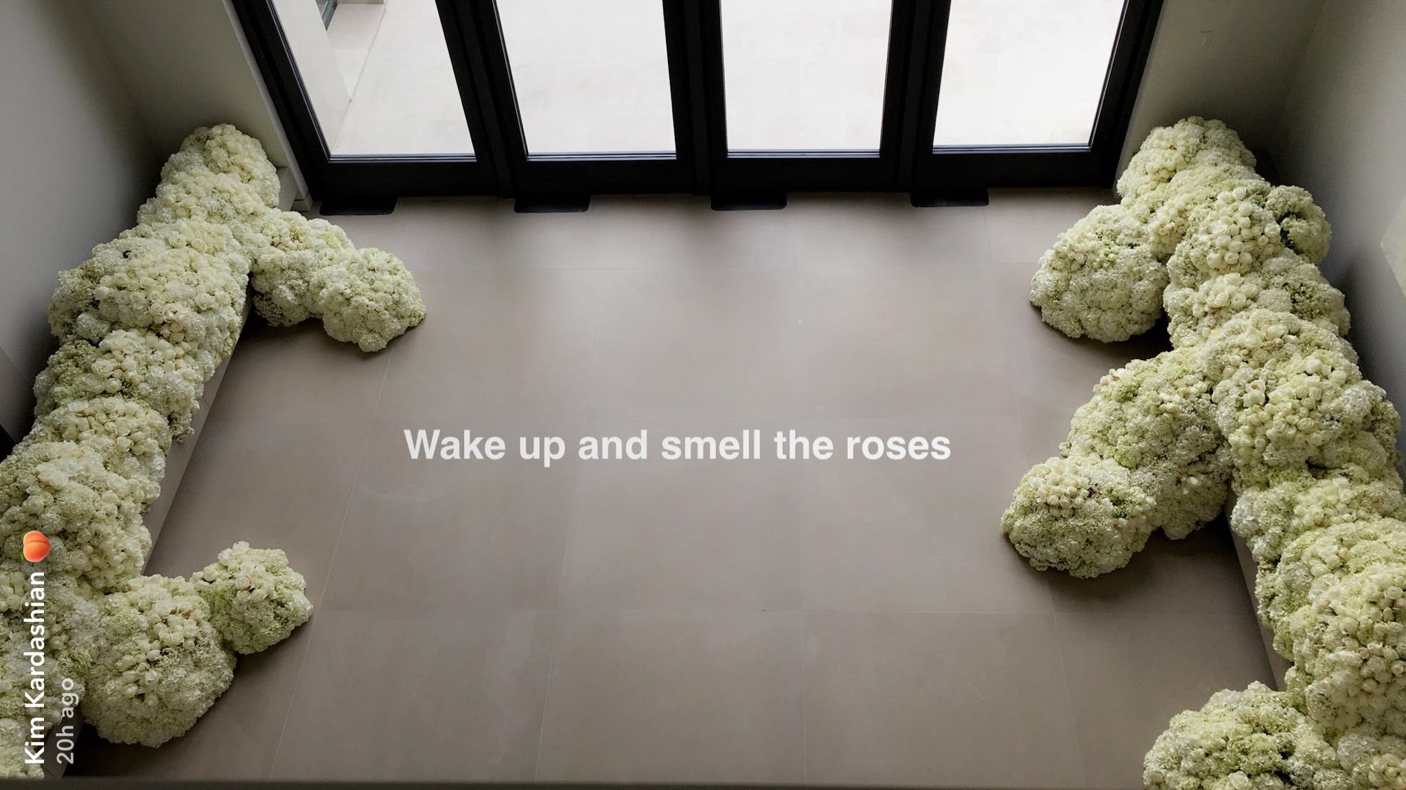 More void from the Kardashians. Elaborate flower installation.