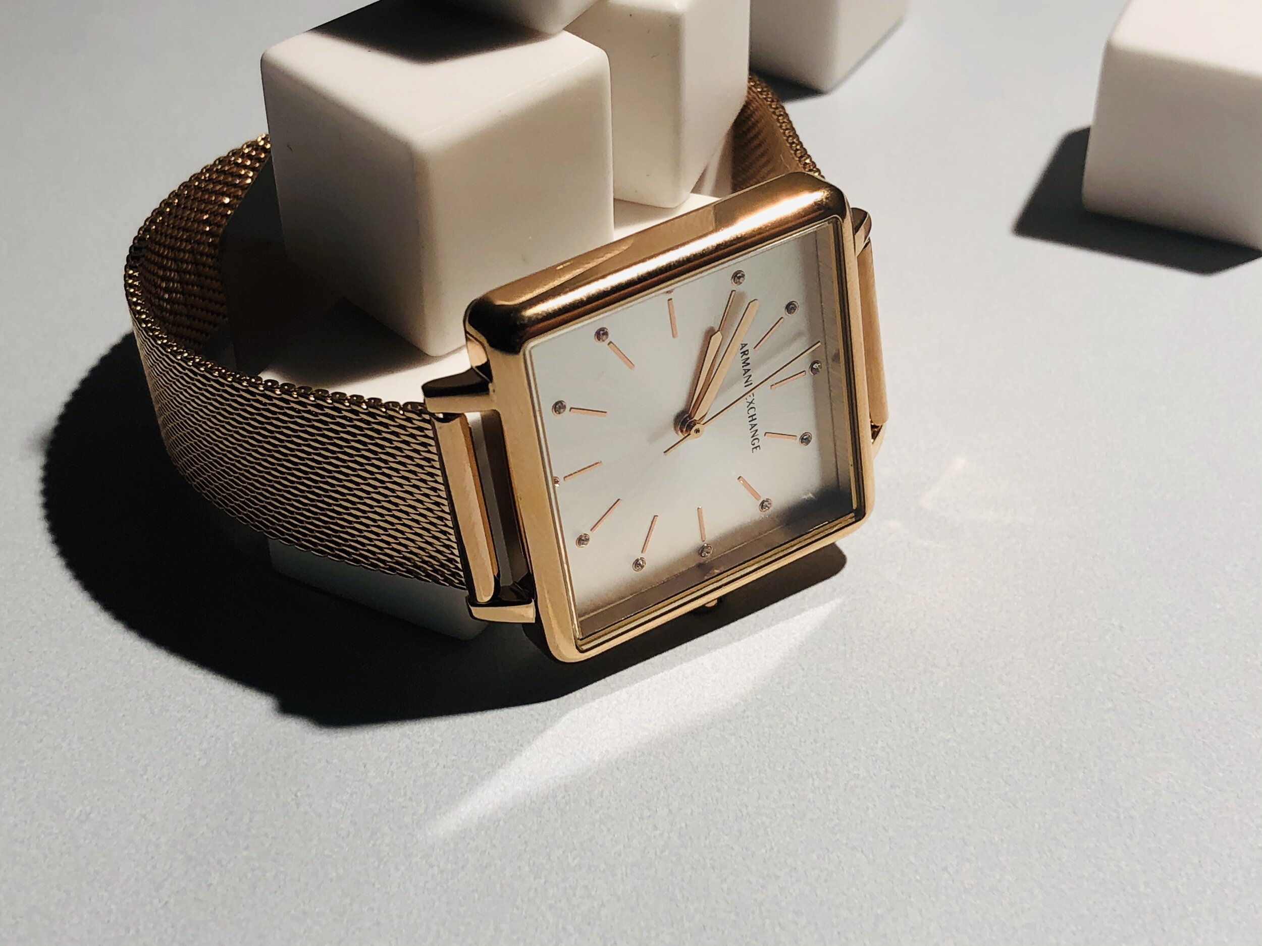 Reflector: The Lola Square's brilliant Rose Gold case plays for keeps.