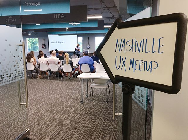 What is leadership, really? Daniel Ferreira shares his thoughts on the matter during July's meetup. Check stories for more!  Special thanks to our sponsors @teksystems, @bridgestonetires, @nossicollegeart, and our space sponsor, @nashtechcouncil! We couldn't do this with you!