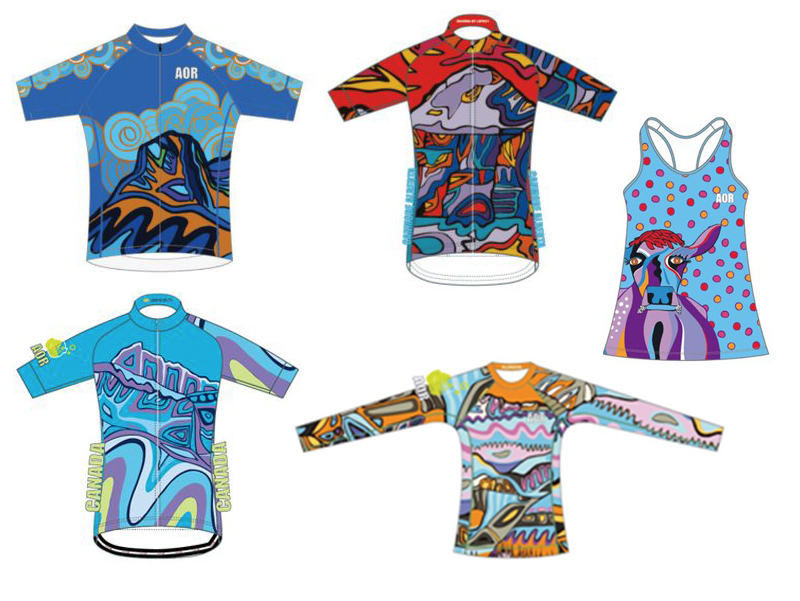 Alchemy of Ride - Take to the roads in style with this colourful setup of ride clothing - custom art! Retail: $620