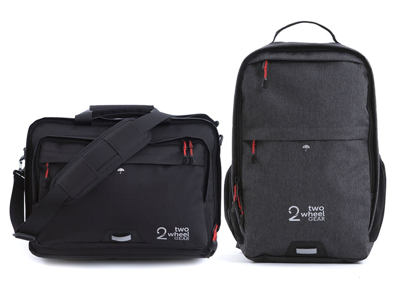 Two Wheel Gear - Rock the roads and in the office with these slick pannier compatible briefcase & backpack. Retail: $310