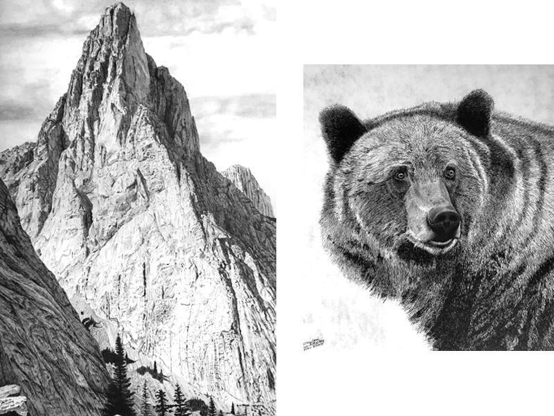 "Glen Boles - Grizzly: Limited edition print, 23"" x 25""Mount Louis: Limited edition print, 24"" x 30""Retail: Grizzly $200, Louis $250"