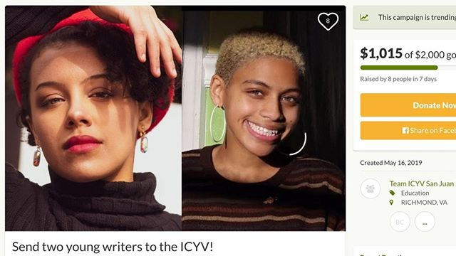 Odessa and Yasmeen are almost there! Help these two bright writers from Richmond Young Writers @richmondyoungwriters attend our summit in August. ⠀ ⠀ https://www.gofundme.com/send-two-young-writers-to-the-icyv⠀ ⠀ #repost #youthvoice