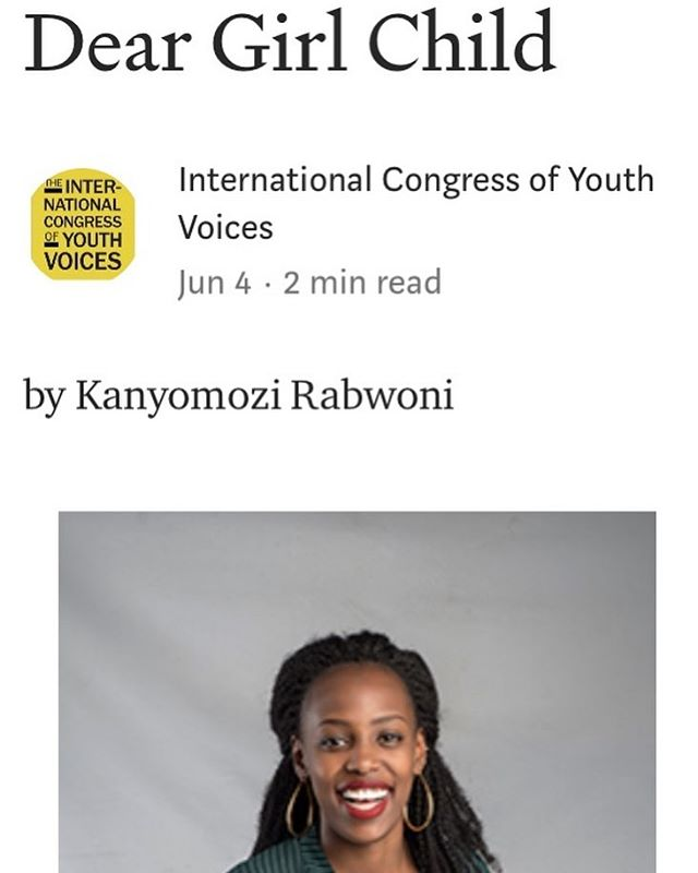 Checkout our 2019 delegate, Lisa's piece on Medium today!  #youthvoice #icyv #womanempowerment