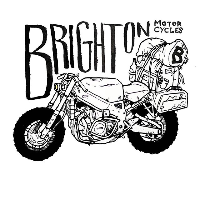 Drawing a blank...#brightonmotorcycles #motorcycle #motorbike #illustration #brighton